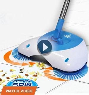 Hurricane Spin Broom - No Bending, No Hard Work!