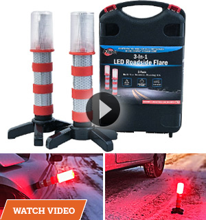 3-in-1 LED Roadside Flares
