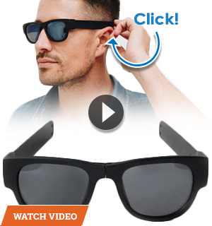 SlapSee Foldable Sunglasses W/ 100% UV Protection